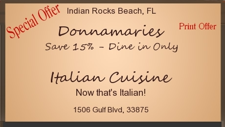 Save 15% - Dine in Only